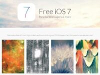 iPhone の壁紙が全部揃う!「Free iOS 7」 (視差効果対応)