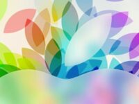 Apple イベント(2013年10月)風の iPad 用壁紙