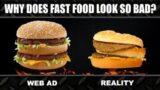 理想→現実 ファーストフードの広告 実物の差を検証した動画が面白い